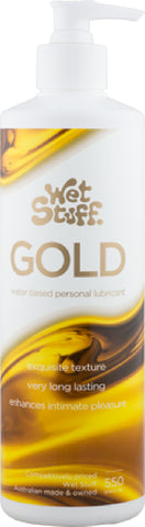 Wet Stuff Gold - Pump (550g) Lube Sex Toy Adult Orgasm