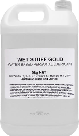 Wet Stuff Gold - Bottle (5kg) Lube Sex Toy Adult Orgasm