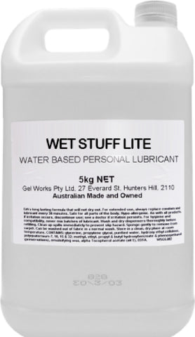 Wet Stuff Lite - Pop Top Bottle (5kg) Lube Sex Toy Adult Orgasm