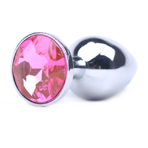 Metal Butt Plug Pink Small