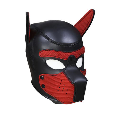 Puppy Play Mask Red