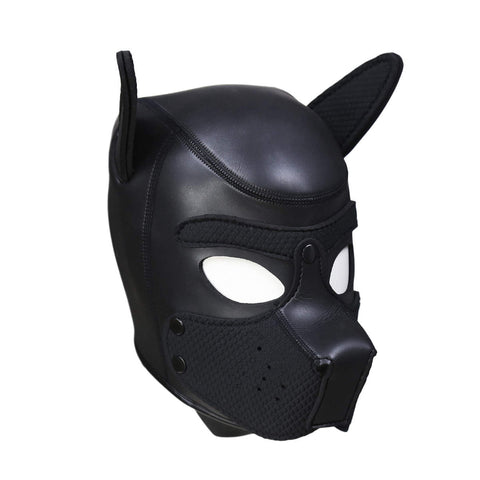 Puppy Play Mask Black