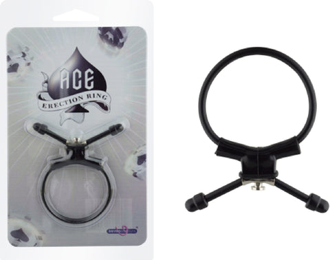 Ace Erection Ring (Black) Sex Toy Adult Pleasure