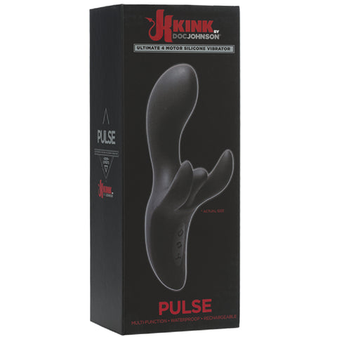 Pulse - Ultimate 4 Motor Silicone Vibrator (Black) Sex Toy Adult Pleasure Orgasm