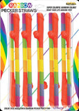 Rainbow Pecker Straws (10 Pack) Sex Adult Pleasure Orgasm