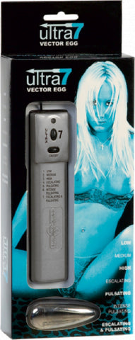 Ultra 7 Control Vector Egg (Silver) Sex Toy Adult Orgasm