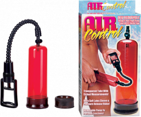 Air Control Pump (Red) Sex Toy Adult Pleasure Penis