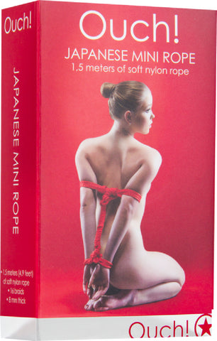 Japanese Mini Rope - 1.5m (Red) Sex Toy Adult Pleasure
