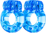 Vibrating Cockring (2 Pack) (Blue) Vibrator Sex Toy Adult Orgasm