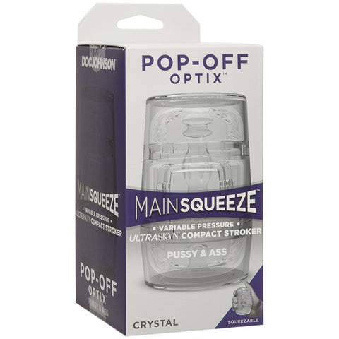 POP-OFF OPTIX Sex Toy Adult Pleasure - Pussy & Ass (Clear)
