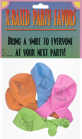 X-Rated Party Balloons (8 Pieces) bachelorette