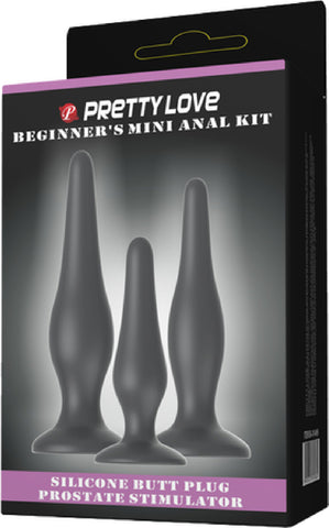 Beginner's Mini Anal Kit (Black) Bondage Sex Toy Adult Pleasure