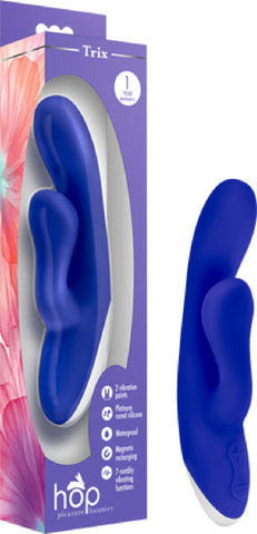 Hop Trix Multi Speed Function Vibrator Rabbit Dildo Dong Sex Toy Adult (Midnight purple)