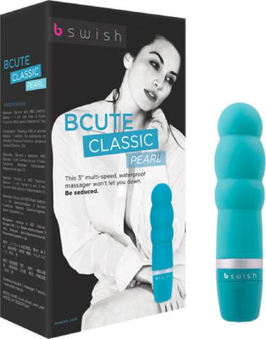 BCUTE - Classic Pearl Multi Speed Vibrator Pleasure Toy by Bswish Jade (Blue)