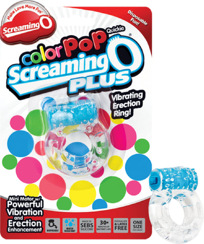 Screaming O Color Pop Quickie Plus (Blue) Vibrator Sex Adult Pleasure Orgasm