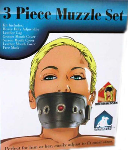 Kinky Muzzle Set Mask & Mouth Gag