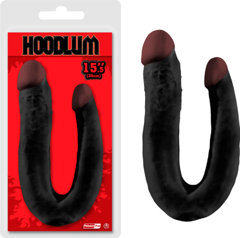 "15.5"" Double Dong Sex Toy Adult Pleasure (Black)"