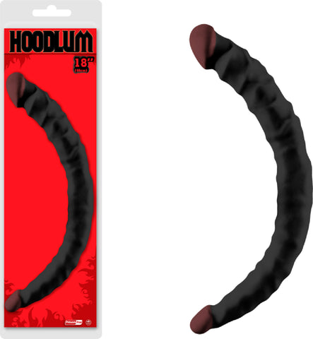 "18"" Double Dong Sex Toy Adult Pleasure (Black)"