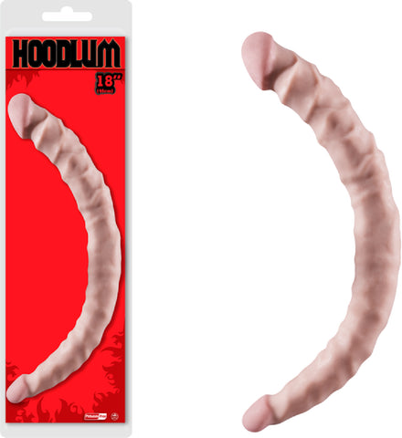 "18"" Double Dong Sex Toy Adult Pleasure (Flesh)"
