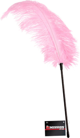 Large Feather Tickle Whip (Pink) Sex Toy Adult Pleasure