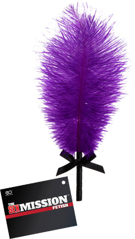 Deluxe Feather Tickler (Purple) Sex Toy Adult Pleasure