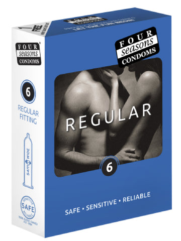 Regular 6's Condom Sex Adult Pleasure Orgasm