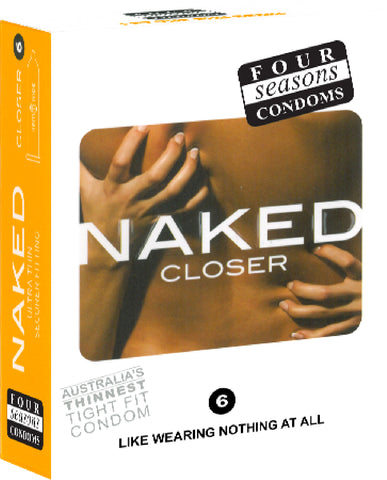 Naked Closer 6's Pleasure Adult Condom Safe Sex