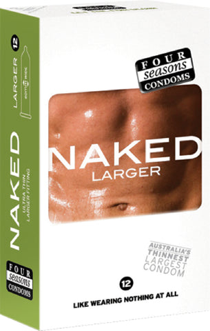 Naked Larger 12's Pleasure Adult Condom Safe Sex