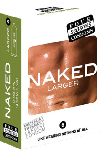 Naked Larger 6's Pleasure Adult Condom Safe Sex