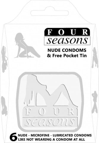 Nuda White Tin 6's Sex Toy Adult Pleasure Condom