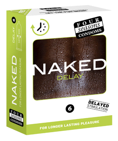 Naked Delay 6's Pleasure Adult Condom Safe Sex