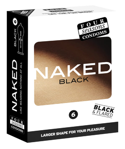 Naked Black 6's Pleasure Adult Condom Safe Sex