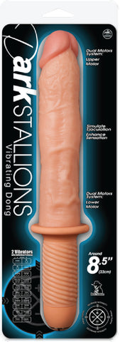 "Dark Stallions 8.5"" Vibrating Dong (Flesh) Sex Toy Adult Pleasure"