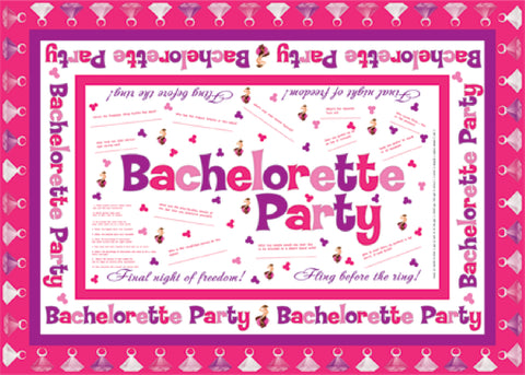 Table Cloth (5' X 7' With 4 Markers) Bachelorette
