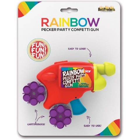 Rainbow Pecker Party Confetti Gun Sex Adult Pleasure Orgasm