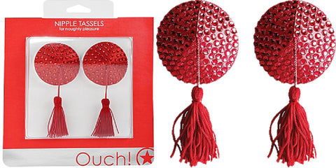 Nipple Tassels - Round (Red)