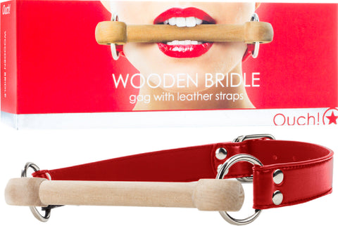 Wooden Bridle (Red) Lube Sex Toy Adult Orgasm Pleasure