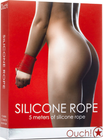 Silicone Rope (Red) Bondage Sex Adult Pleasure Orgasm