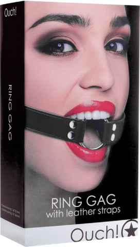 Ring Gag (Black) Bondage Sex Adult Pleasure Orgasm