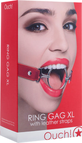 Ring Gag XL (Red) Bondage Sex Adult Pleasure Orgasm