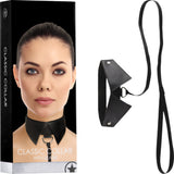 Classic Collar With Leash (Black) Sex Toy Adult Pleasure