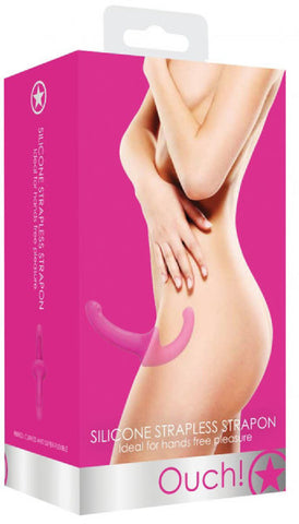 Silicone Strapless Strap-On (Pink)