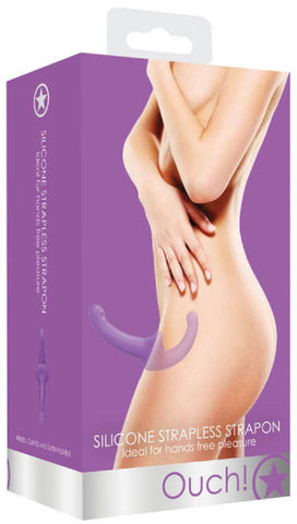 Silicone Strapless Strap-On (Purple)