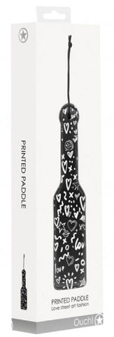 Printed Paddle - Love Street Art Fashion (Black)