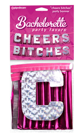 """Cheers Bitches"" Party Banner Sex Toy Adult Pleasure"