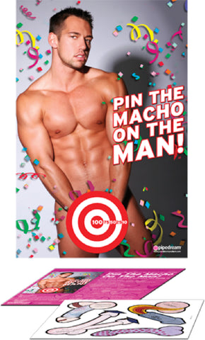 Pin The Macho On The Man Sex Toy Adult Pleasure Orgasm