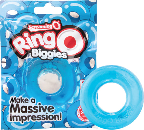 RingO Biggies (Blue) Cock Ring Bondage Sex Adult Pleasure Orgasm