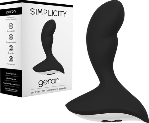 GERON Anal Vibrator (Black) Sex Toy Adult Pleasure