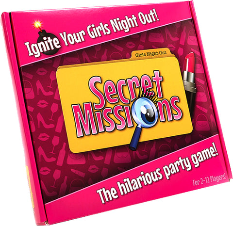 Secret Missions Girls Night Out Fun Board Game For Friends Or Lovers