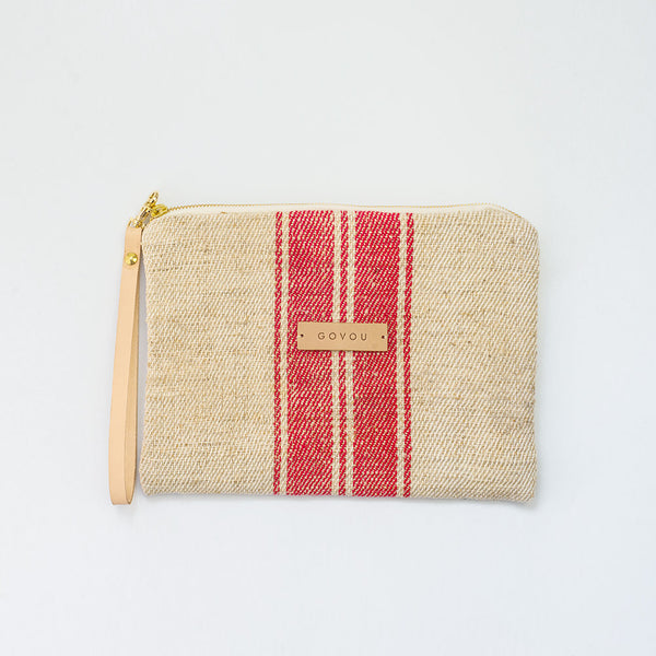 Tick Red Stripe Clutch